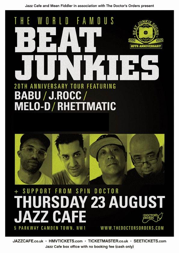 [News] Beat Junkies Tour – @JazzCafeCamden London [GIG] 23rd August 2012