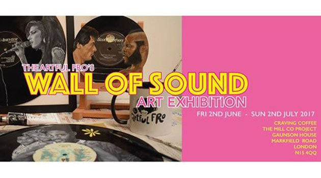 Wall of Sound – A vinyl art exhibition by The Artful Fro